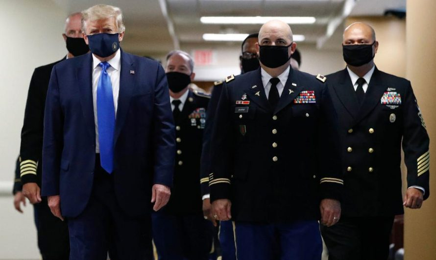 King tweet images of themselves wearing the mask and call it Patriotic'