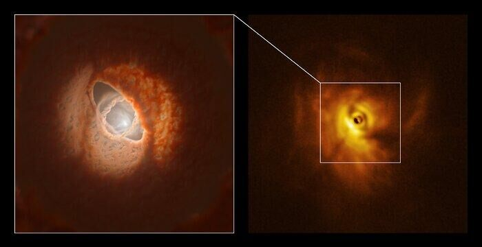 Warped disc 'torn apart by stars' discovered in triple 'Tatooine-like' system