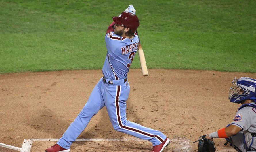 Bryce Harper hits two home runs, but Phillies come up short vs. Mets, 10-6