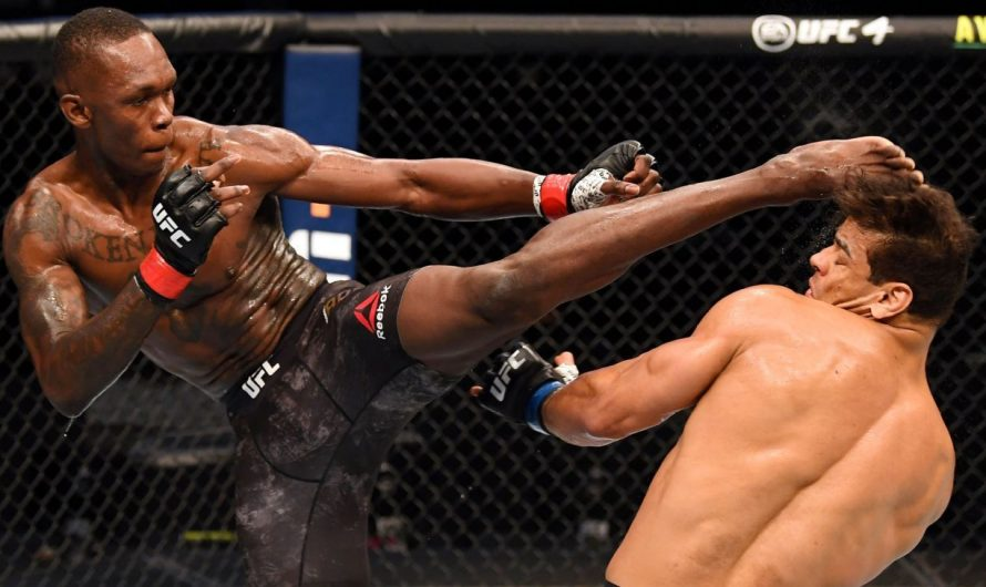 Israel Adesanya retains UFC middleweight title with TKO of Paulo Costa
