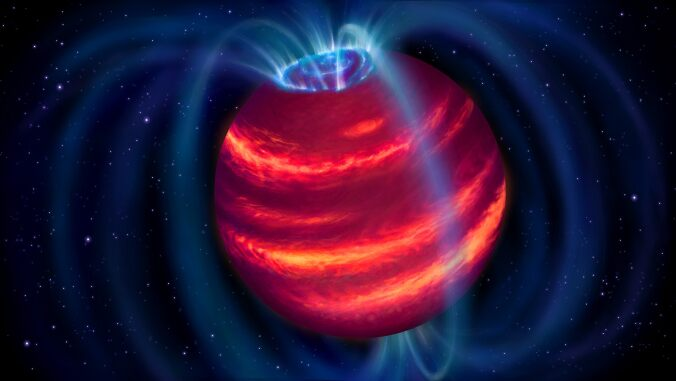 Bizarre 'super planet' discovered for first time with radio observations