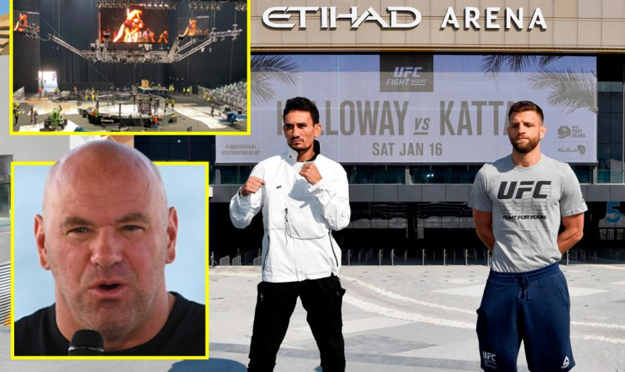 An exclusive look at the five-star hotel housing Dana White and Conor McGregor complete with F1 track and marina, plus the brand new Etihad Arena