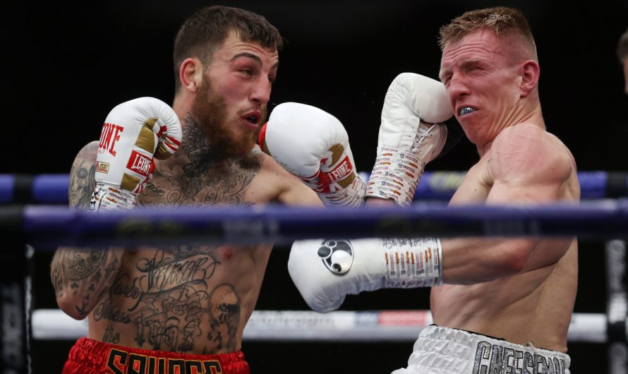 Ted Cheeseman beat Sam Eggington in a toe-to-toe slugfest in the Eddie HOU battle camp in the back garden