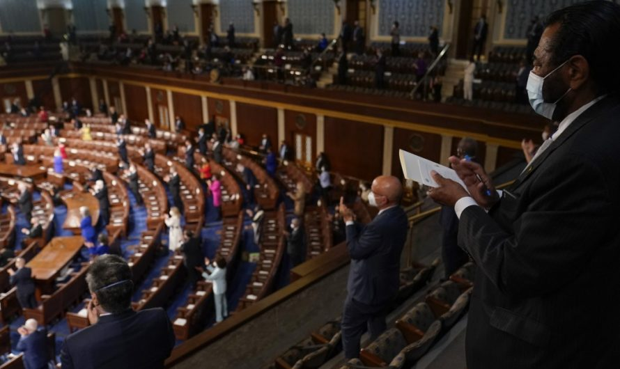 Lawmakers hear 'low energy' Biden address in sparsely filled chamber