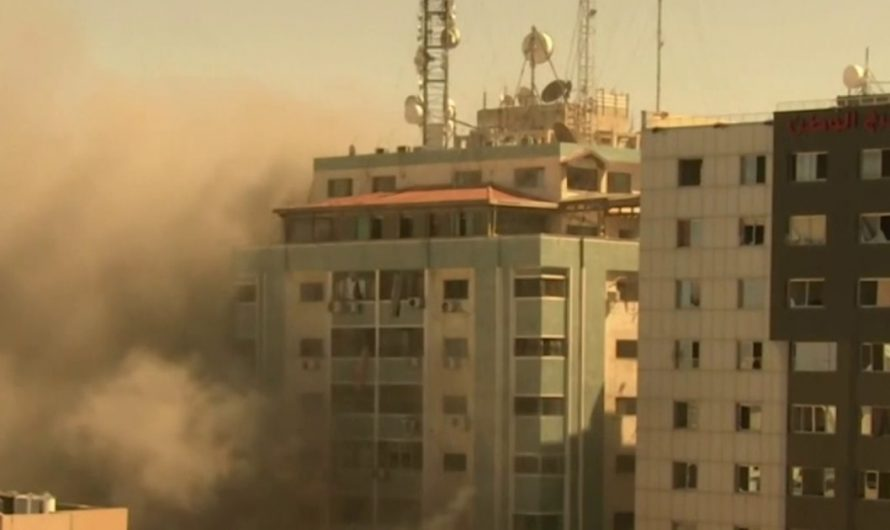 Israeli airstrike in Gaza hits high-rise building housing media outlets